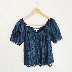 Moulinette Soeurs {Anthropologie} Messina Lace Top
